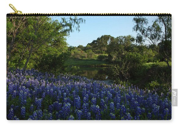 Bluebonnets At The Pond Carry-all Pouch