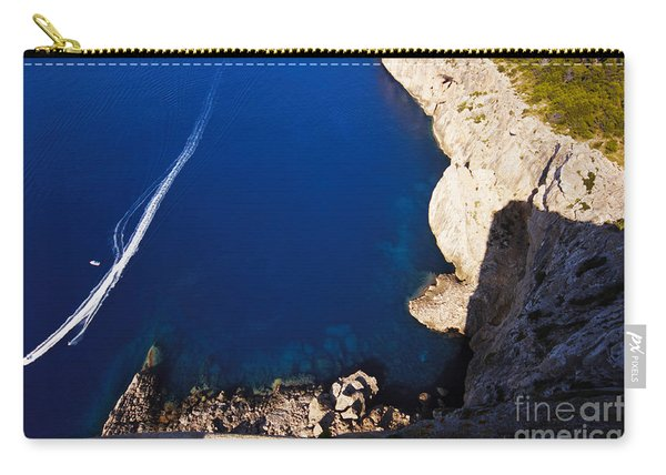 Boat In The Sea Carry-all Pouch