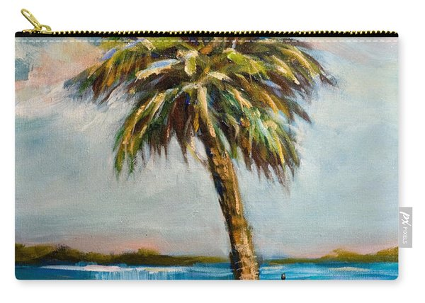 Boater On River Carry-all Pouch
