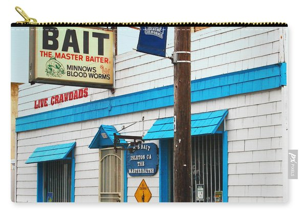 Bobs Bait Shop In Isleton California . The Master Baiter Carry-all Pouch
