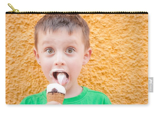 Boy Having Ice Cream Carry-all Pouch