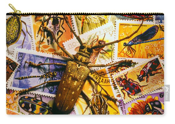Bugs On Postage Stamps Carry-all Pouch