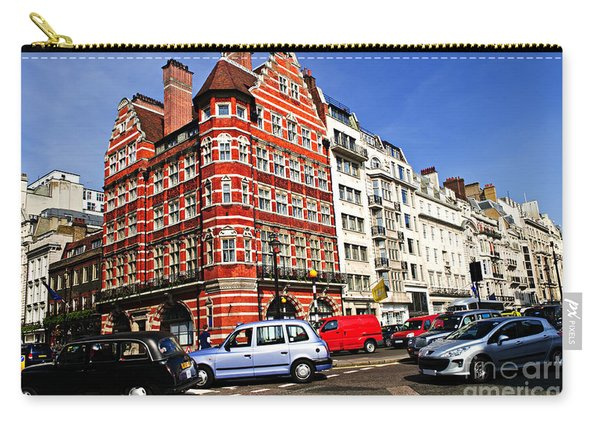 Busy Street Corner In London Carry-all Pouch