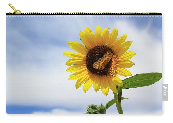 Butterfly On A Sunflower Carry-all Pouch