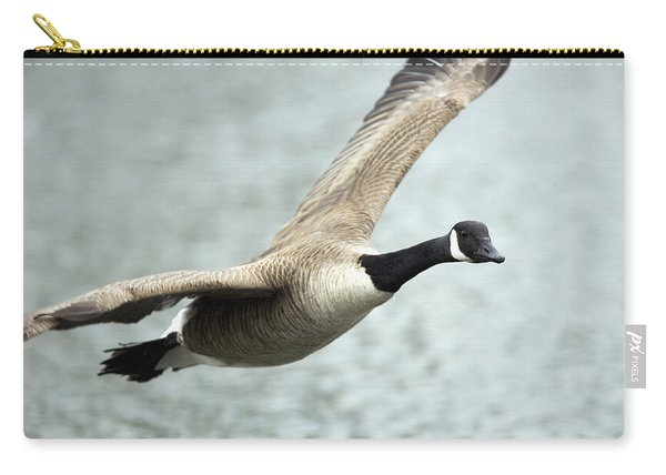 Canada Goose In Flight, Montreal Carry-all Pouch