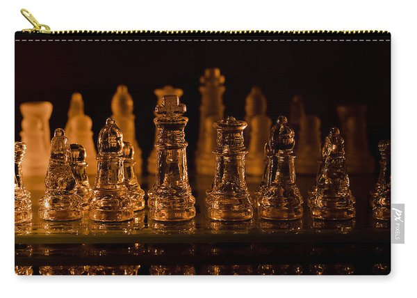 Candle Lit Chess Men Carry-all Pouch