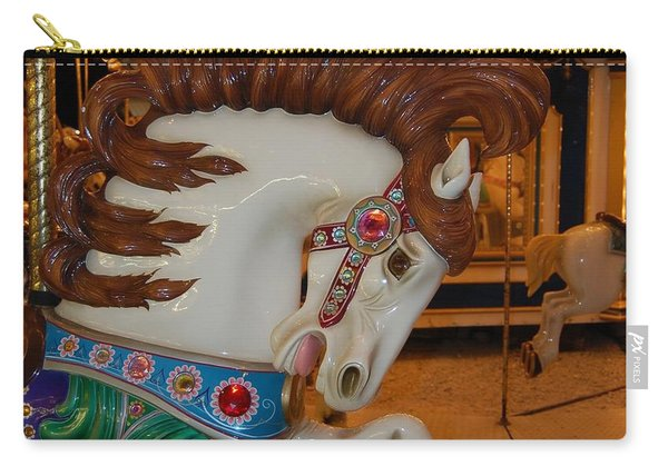 Carousel Horse Brown Mane Carry-all Pouch