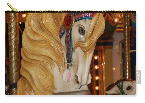 Carousel Horse Golden Mane Carry-all Pouch