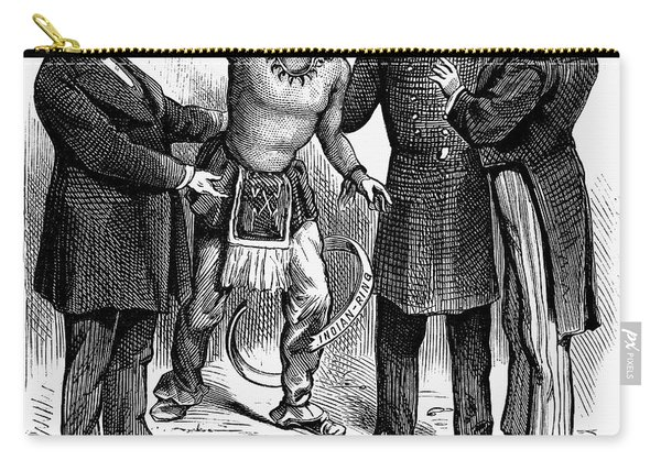 Cartoon: Native Americans, 1876 Carry-all Pouch