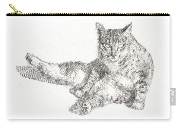 Cat Sitting Carry-all Pouch
