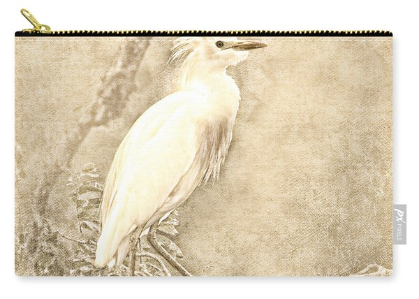 Cattle Egret Mono Carry-all Pouch