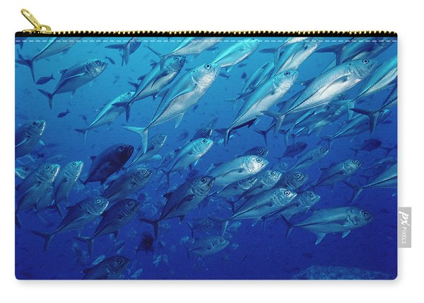 Cavalla Caranx Sp School Off Of Cocos Carry-all Pouch