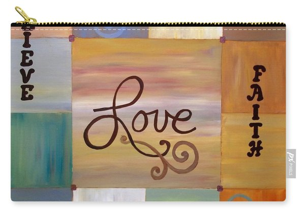 Carry-all Pouch featuring the painting Center Love by Cynthia Amaral