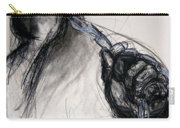 Carry-all Pouch featuring the drawing Chain by Gabrielle Wilson-Sealy