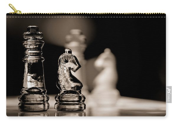 Chess King And Knight Carry-all Pouch