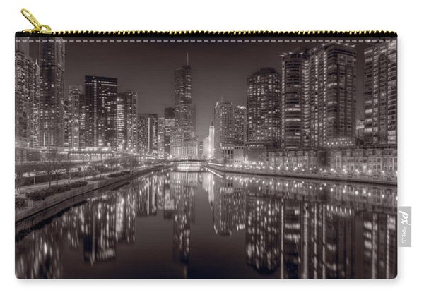 Chicago River East Bw Carry-all Pouch