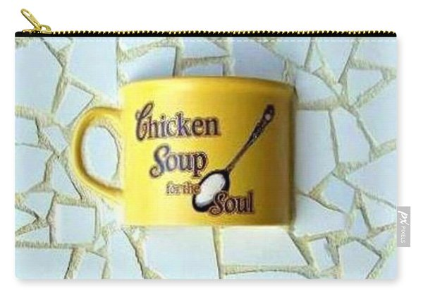 Carry-all Pouch featuring the mixed media Chicken Soup For The Soul by Cynthia Amaral