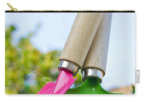 Children's Spade And Trowel In A Garden Carry-all Pouch