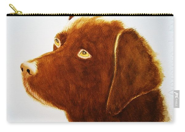 Chocolate Labrador  Carry-all Pouch