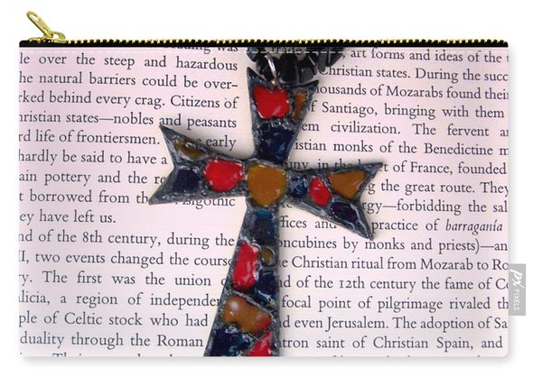 Carry-all Pouch featuring the jewelry Christian  Cross by Cynthia Amaral