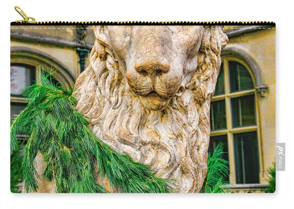 Christmas Lion At Biltmore Carry-all Pouch