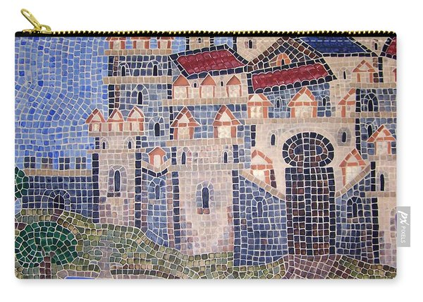 Carry-all Pouch featuring the painting City Of Granada Old Map by Cynthia Amaral