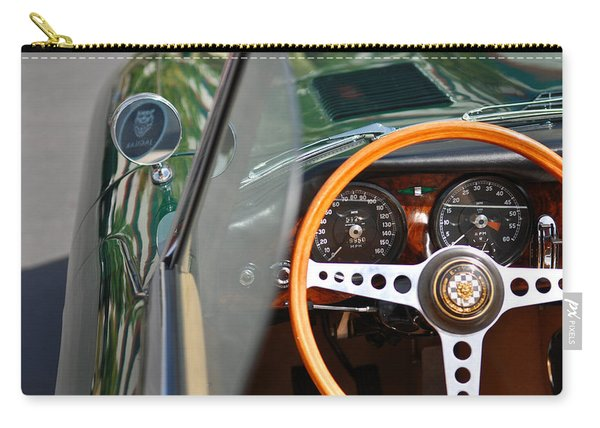 Classic Green Jaguar Artwork Carry-all Pouch