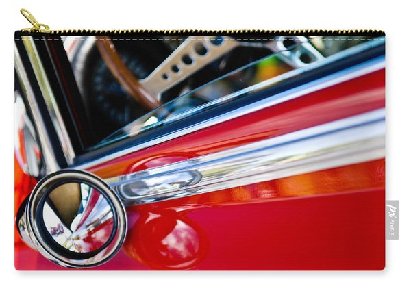Classic Red Car Artwork Carry-all Pouch