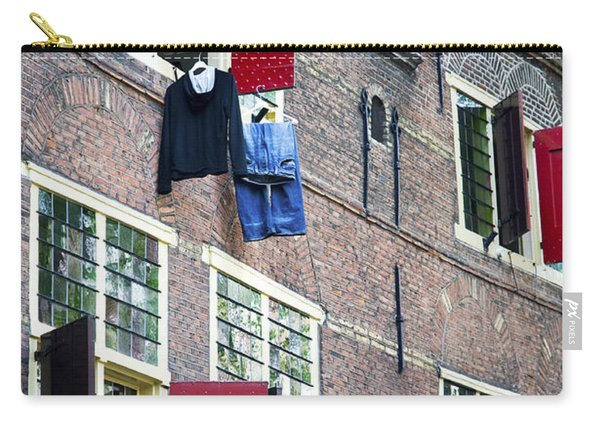 Clothes Hanging From A Window In Kattengat Carry-all Pouch