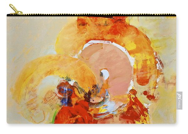 Carry-all Pouch featuring the painting Cocks Comb And Brush by Cliff Spohn