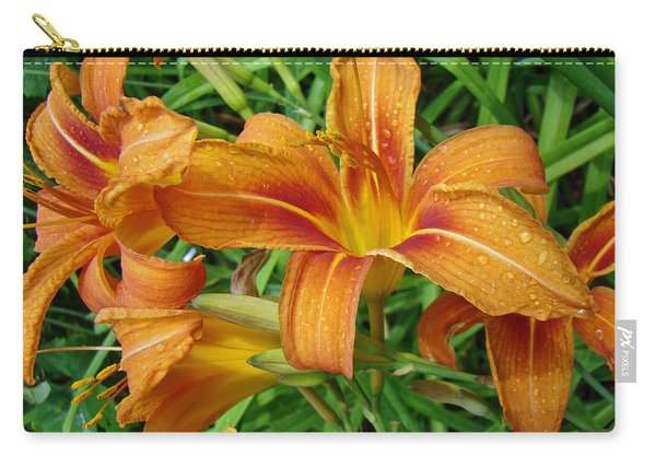 Consider The Lilies Of  The Field - Hemerocallis Fulva Carry-all Pouch
