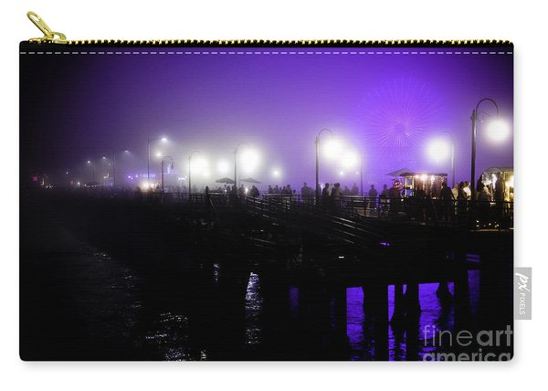 Cool Night At Santa Monica Pier Carry-all Pouch