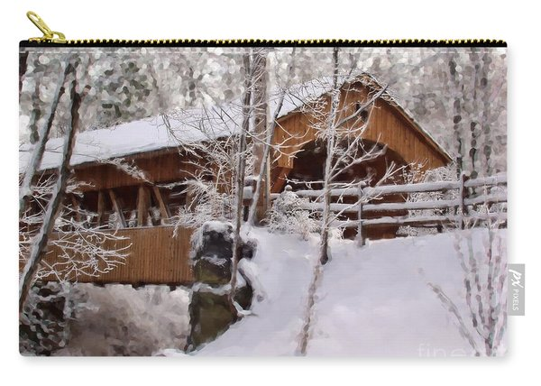 Covered Bridge At Olmsted Falls - 2 Carry-all Pouch