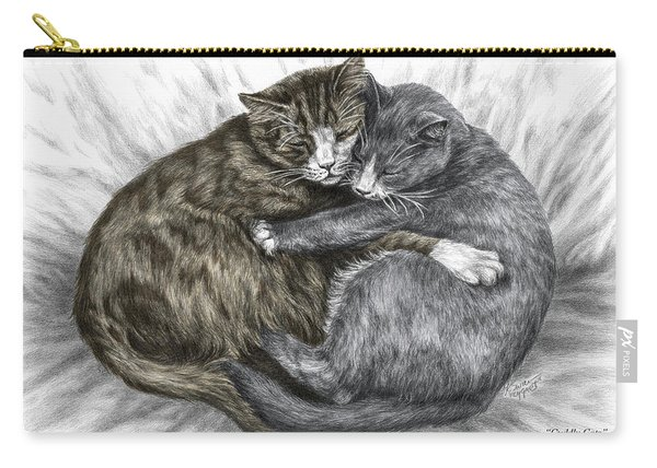 Cuddly Cats - Color Tinted Art Print Carry-all Pouch