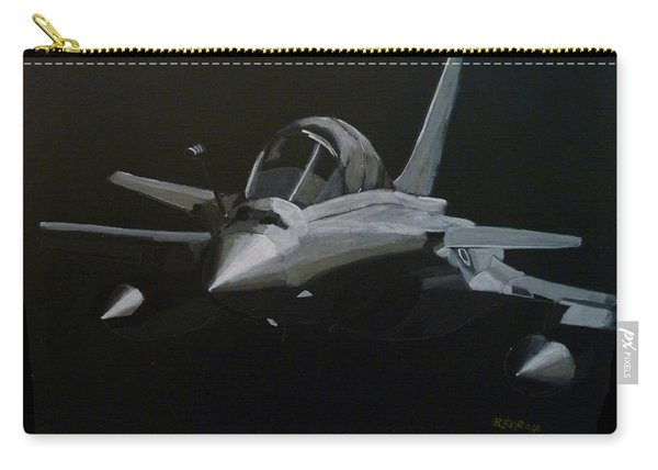 Carry-all Pouch featuring the painting Dassault Rafale by Richard Le Page