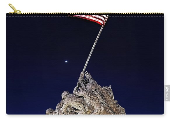 Digital Drawing - Iwo Jima Memorial At Dusk Carry-all Pouch