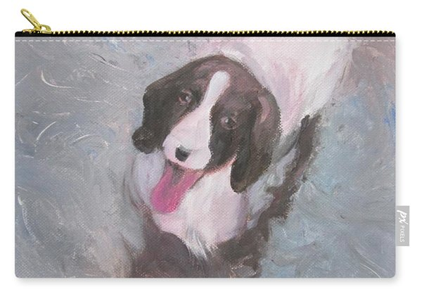 Dog In River Carry-all Pouch