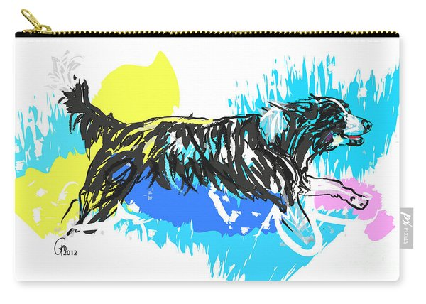 Dog Running In Water Carry-all Pouch