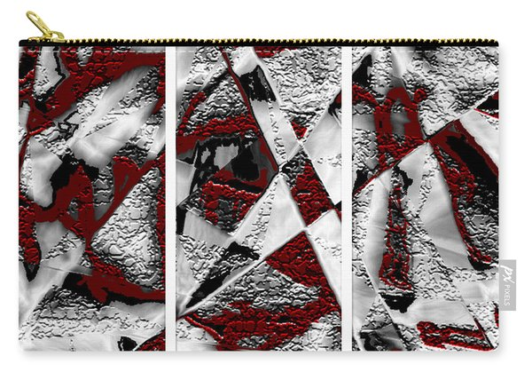Dramatique Red Triptych Carry-all Pouch