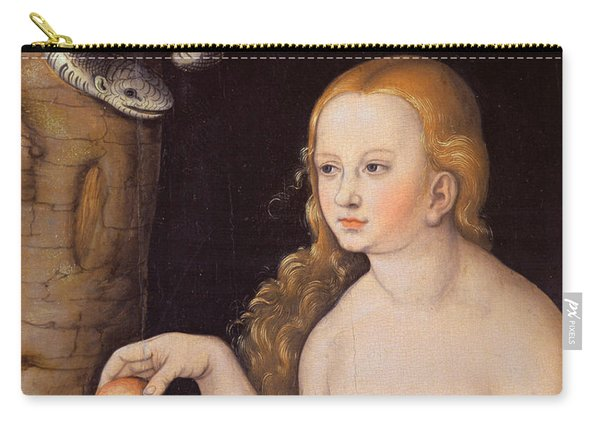Eve Offering The Apple To Adam In The Garden Of Eden And The Serpent Carry-all Pouch