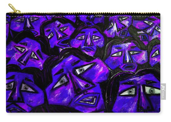 Faces - Blue Carry-all Pouch