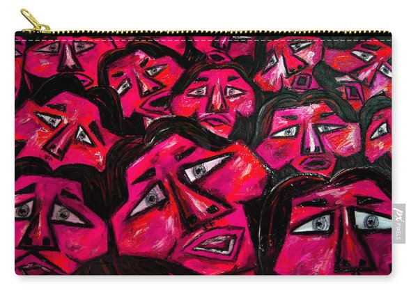 Faces - Pink Carry-all Pouch