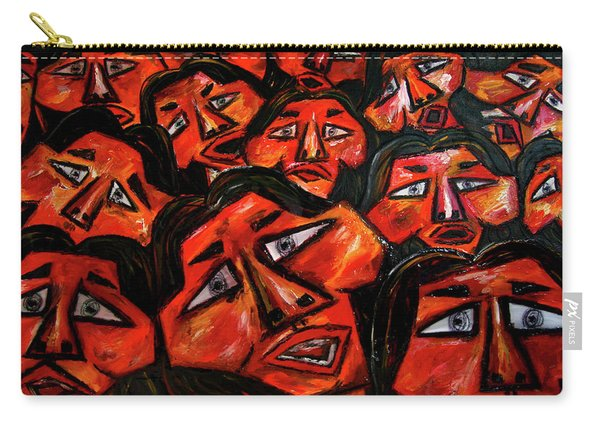 Faces In The Crowd Carry-all Pouch