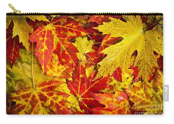 Fallen Autumn Maple Leaves  Carry-all Pouch