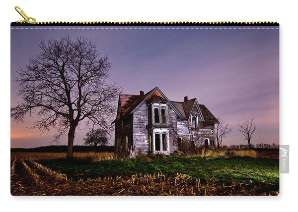 Farm House At Night Carry-all Pouch