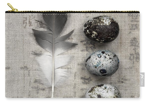 Feather And Three Eggs Carry-all Pouch