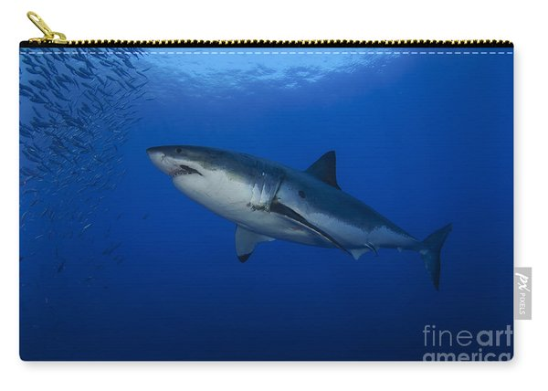 Female Great White With Remora Carry-all Pouch