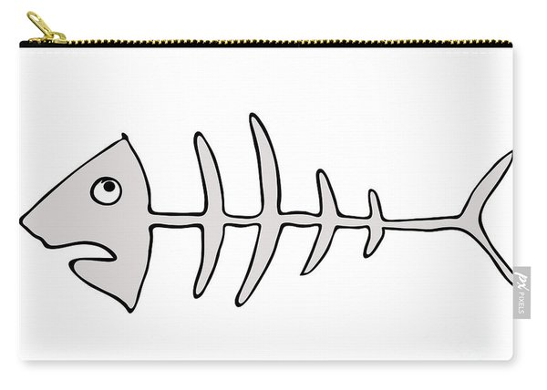 Fish Skeleton - Fishbones Carry-all Pouch