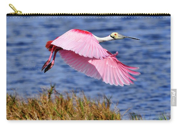 Flight A Roseate Spoonbill Carry-all Pouch