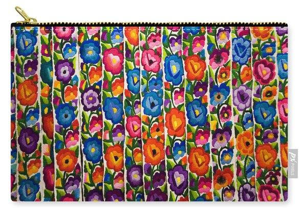 Floral Textile Carry-all Pouch